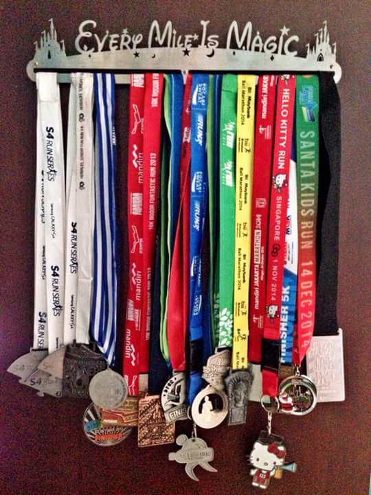 Medal Hanger - every mile is magic